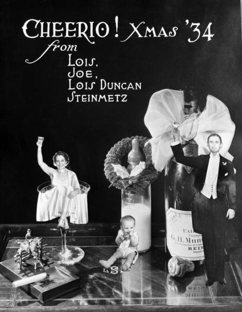 Steinmetz Family Christmas Card, 1934