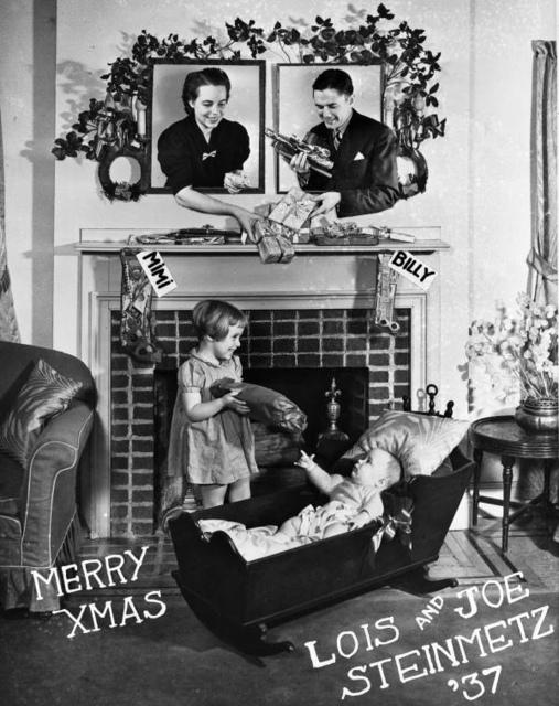 Steinmetz Family Christmas Card, 1937