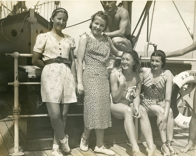 De Basil Covent Garden Russian Ballet Company on the SS Maloja during their Australian tour, September 1938
