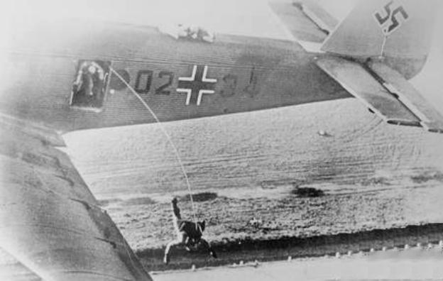 German paras jumping from Ju 52 1938