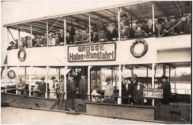 Hamburg Pleasure Boat, dated 21 August 1938