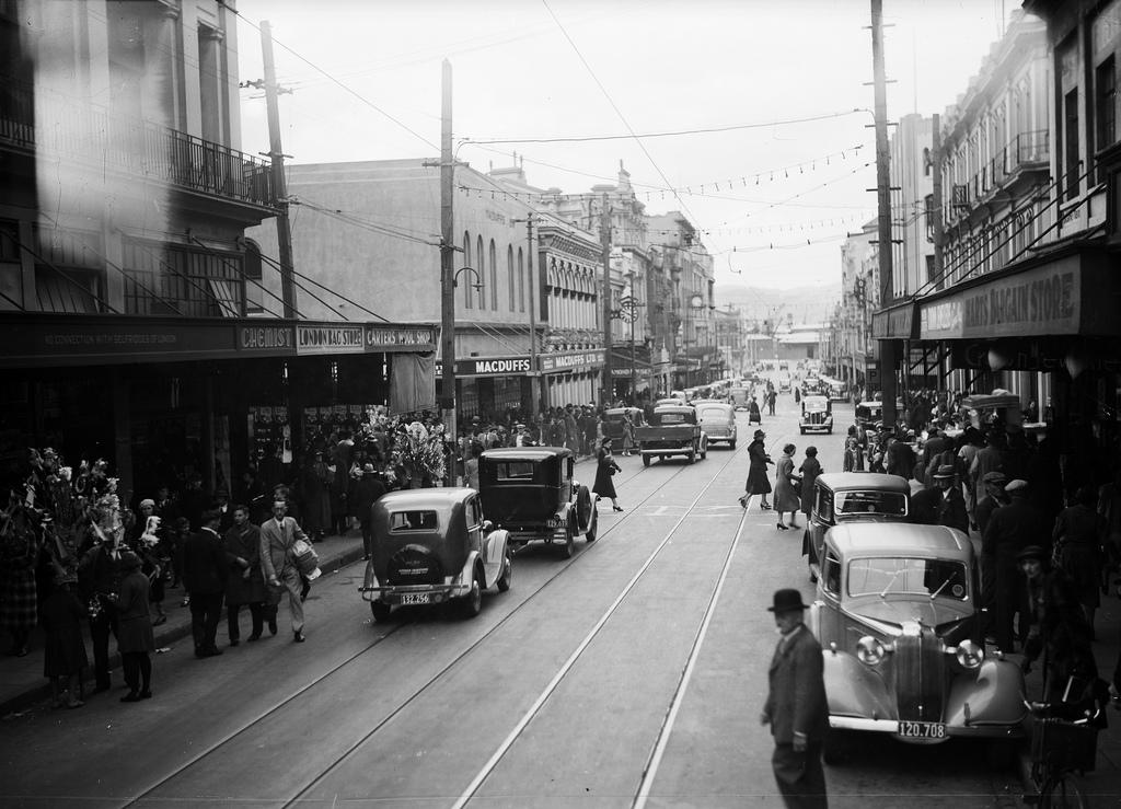 Cuba Street, Wellington, 1939
