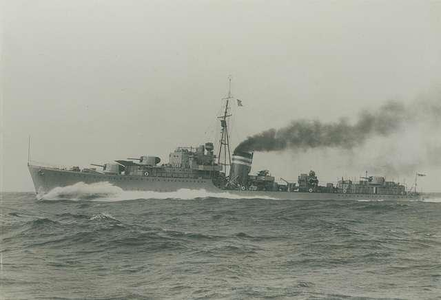 HMS Jervis on sea trials