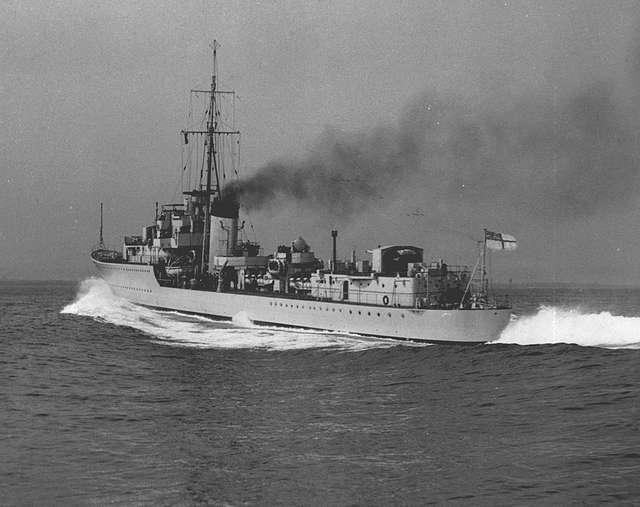 Stern view of HMS Kelly