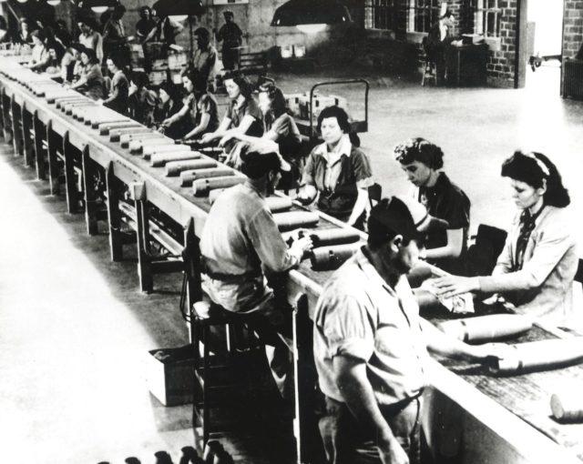 Around Marshall. Arsenal workers from Huntsville, Alabama.