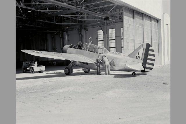 O-47A airplane arrival at Ames Aeronautical Lab The O-47A was Ames first test plane ARC-1969-M-831