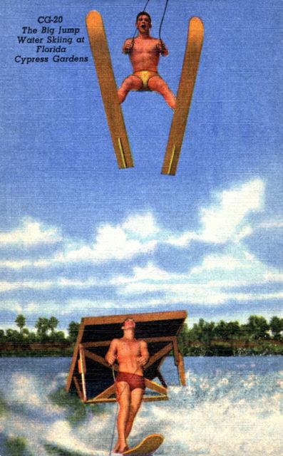 """""""The Big Jump - Water Skiing at Florida's Cypress Gardens"""""""