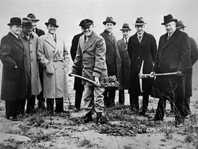 Groundbreaking for the NACA's Aircraft Engine Research Laboratory