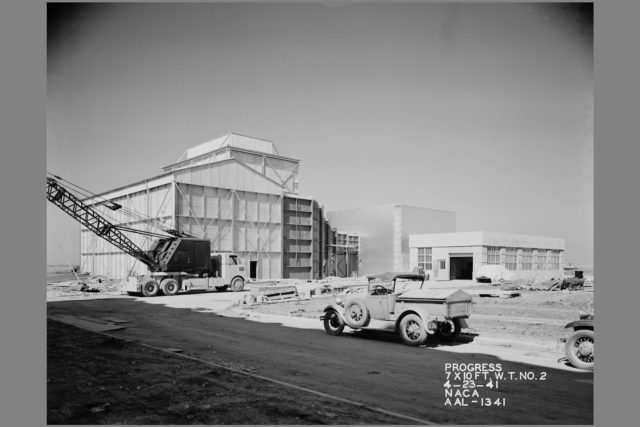 NACA Photographer N-216; 7x10ft#2 Wind Tunnel being constructed at the Ames Research Center, California ARC-1941-AAL-1341