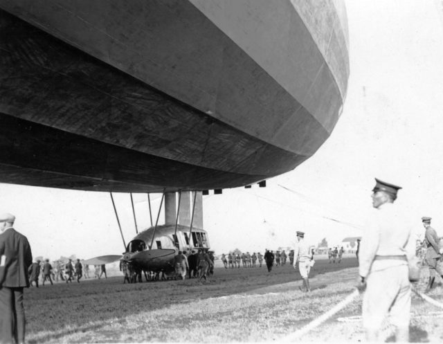 Airship visits North Island