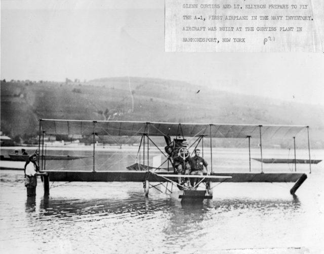 Curtiss A-1, Curtiss and Ellyson aboard 00020