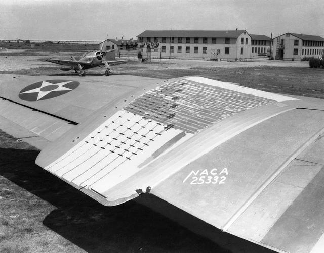 Experimental Low-Drag Test Panel on Douglas B-18