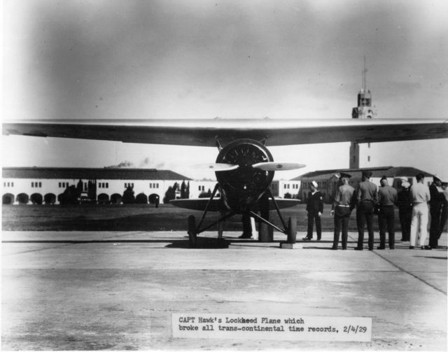 Lockheed Air Express, Frank Hawks, NAS San Diego, Jun29