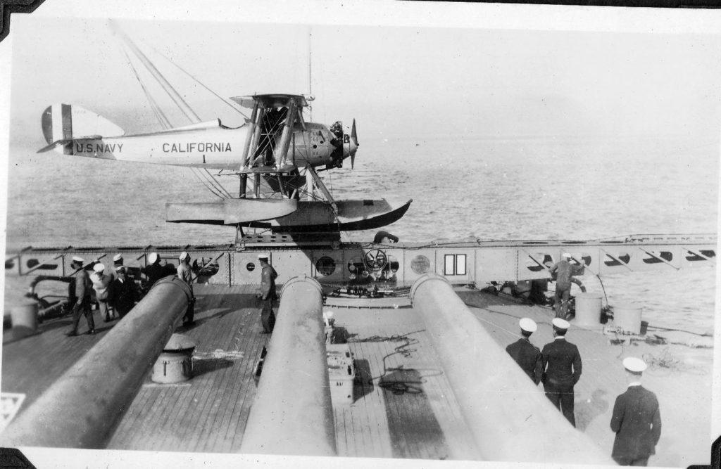 Vought UO-1, A-7004, USS California
