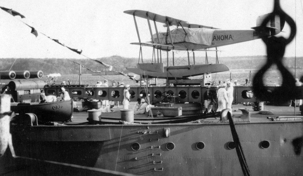 Vought UO-1, USS Oklahoma
