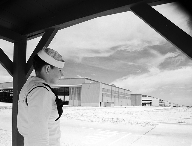[Sailor at Naval Air Station Corpus Christi, Bethlehem Steel Corporation]