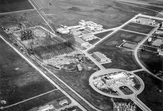 Aerial View Of The Site From The 40x80 Foot Wind Tunnel At Nasa Ames Research Center.