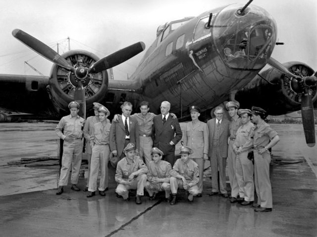 Memphis Belle and Crew Visit the Aircraft Engine Research Laboratory
