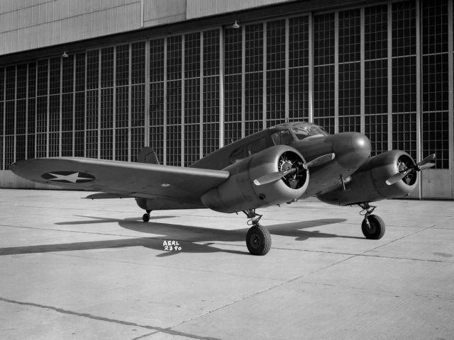 Cessna UC–78 Bobcat at the Aircraft Engine Research Laboratory