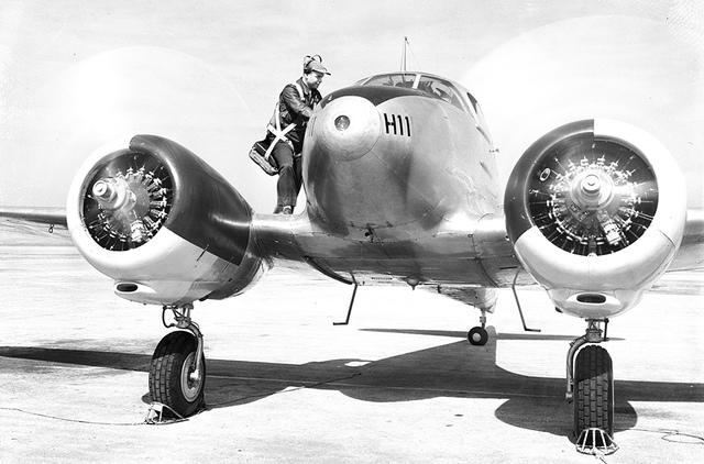 [Pilot Standing on Aircraft, Randolph Field]