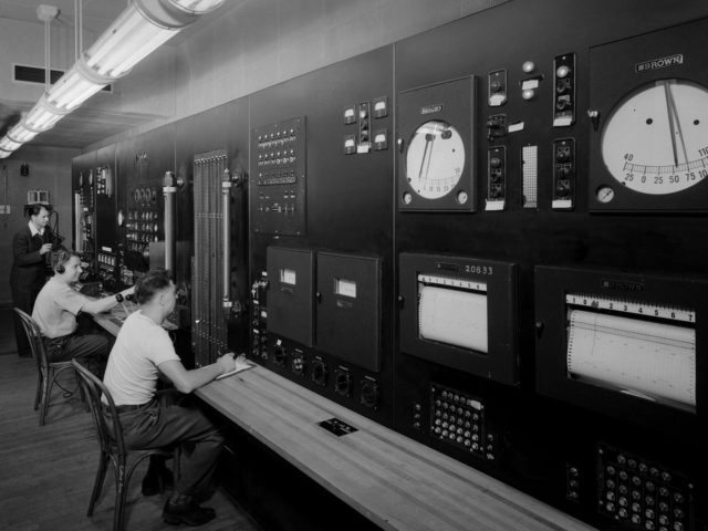 Altitude Wind Tunnel Control Room at the Aircraft Engine Research Laboratory