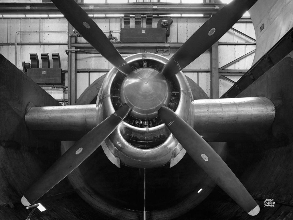 B-29 Superfortress Engine in the Altitude Wind Tunnel