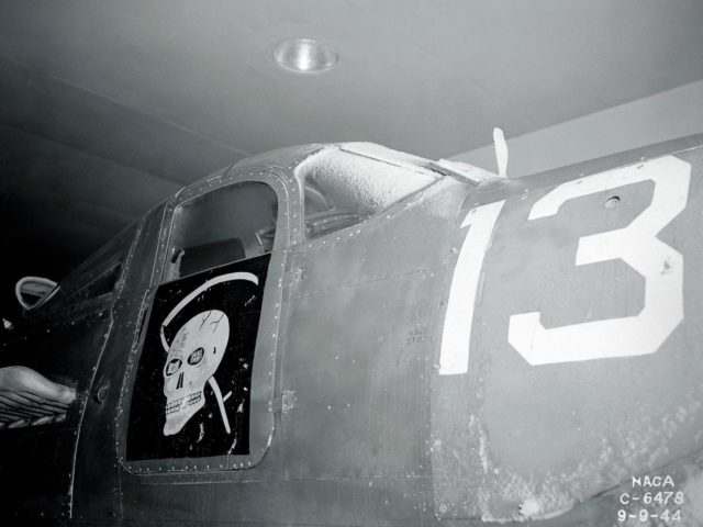 Bell P-39 in the Icing Research Tunnel
