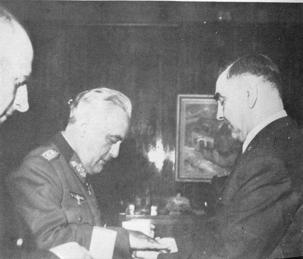 Ante Pavelić, Edmund Glaise von Horstenau and Siegfried Kasche