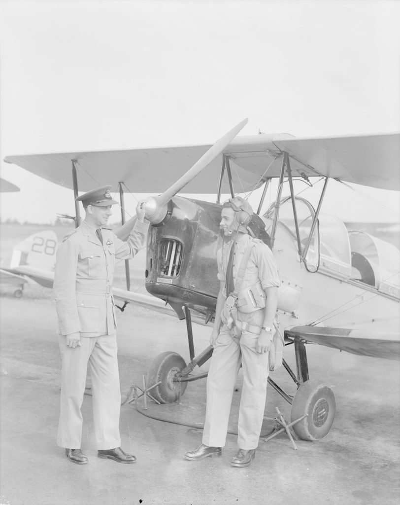 Flight Lieutenant Wilson and Student, about 1940-1944