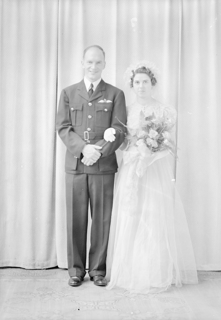 Herb Davidson and Bride, about 1940-1944