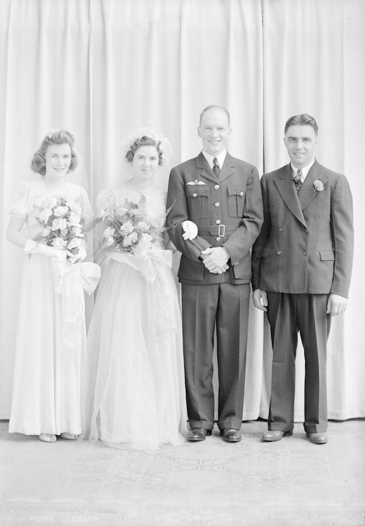 Herb Davidson and Wedding Party, about 1940-1944