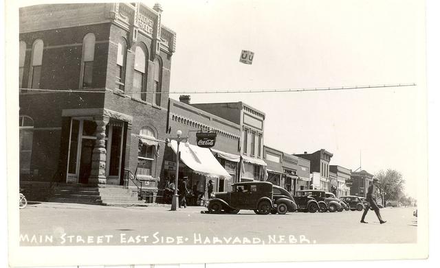 Main Street East Side - Harvard, Nabraska (pop 700)