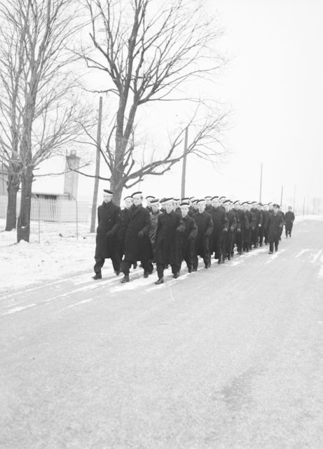 Route March, about 1943-1944