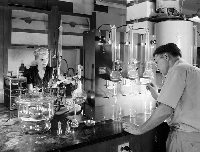 Sinclair Refining laboratory... at Corpus Christi