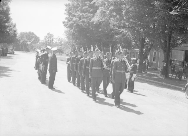 Sky Harbour Funeral of Kelly, about 1940-1944