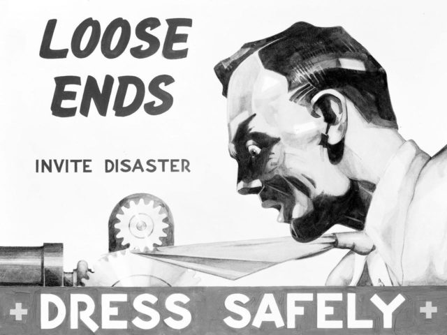 NACA Wartime Safety Poster