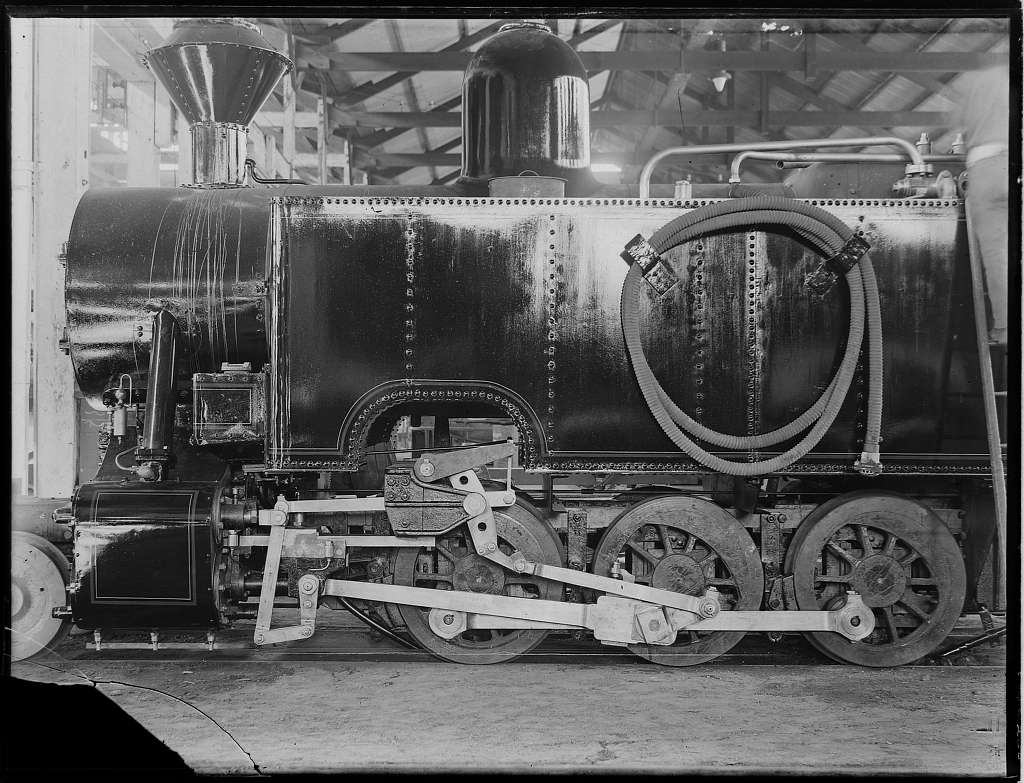A steam tank locomotive from The Powerhouse Museum
