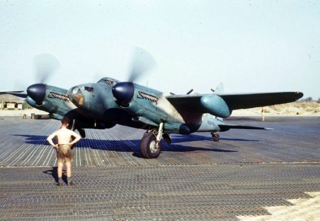 De Havilland Mosquito PR Mark XVI, NS645 'P', at Alipore, India
