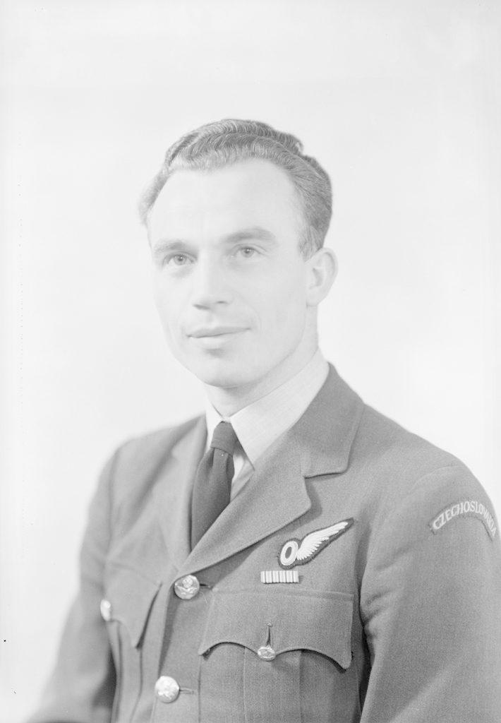 F/Lt Hruska, about 1940-1945