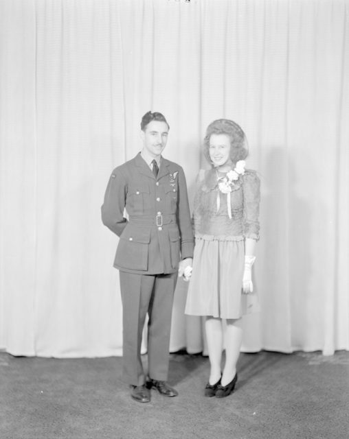 F/O Fisher Wedding, about 1940-1945
