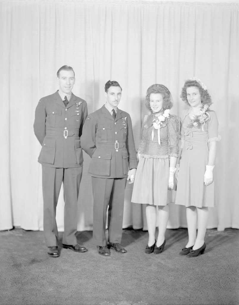 F/O Fisher Wedding Party, about 1940-1945