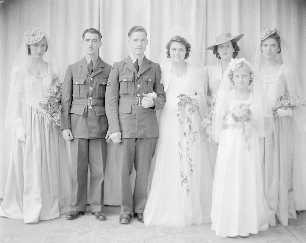Mr. & Mrs. Barrington and Wedding Party, about 1940-1945
