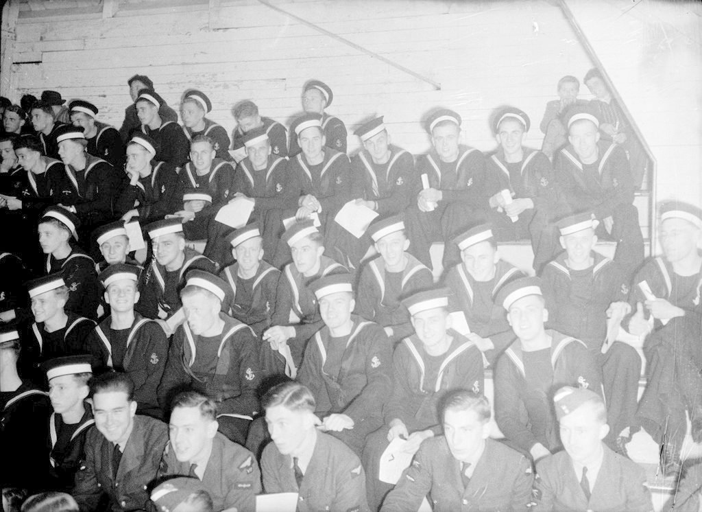 Navy at the Rink, about 1940-1945