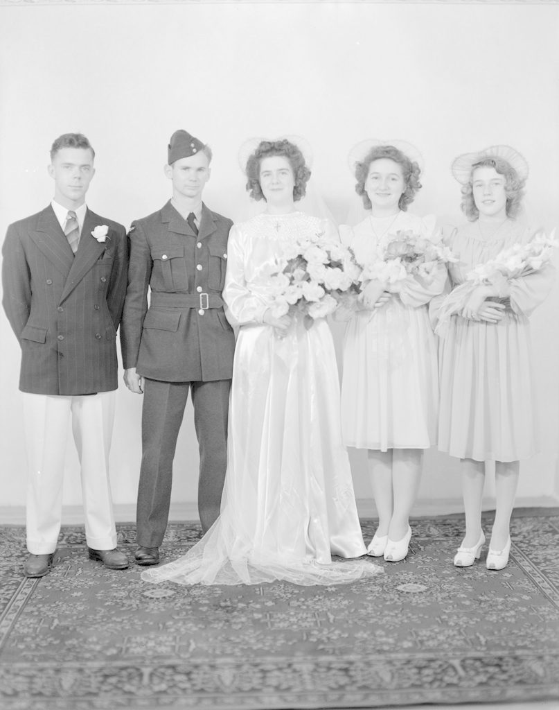 Sheppard Wedding Party, about 1940-1945