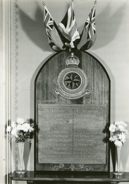 St. George's Church Plaque, about 1940-1945