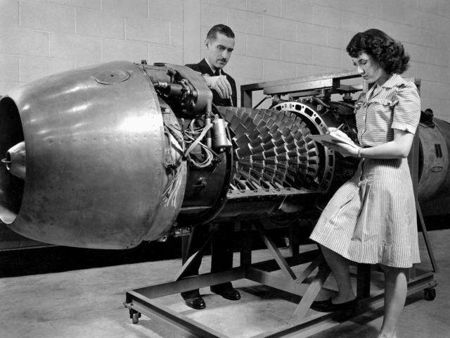 German Jumo 004 Engine at the Lewis Flight Propulsion Laboratory