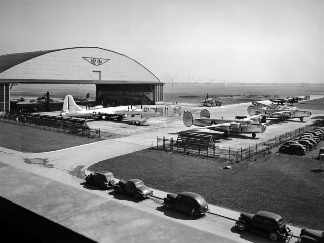 Aircraft Fleet on the Tarmac at the Lewis Flight Propulsion Laboratory