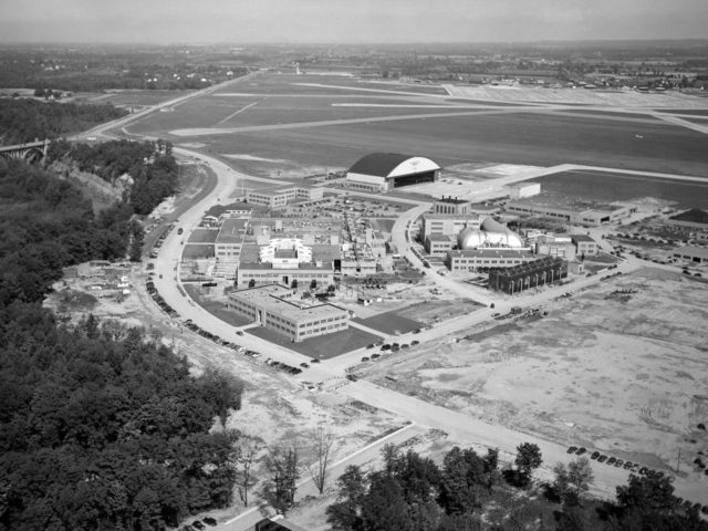 Aerial View of NACA's Lewis Flight Propulsion Research Laboratory