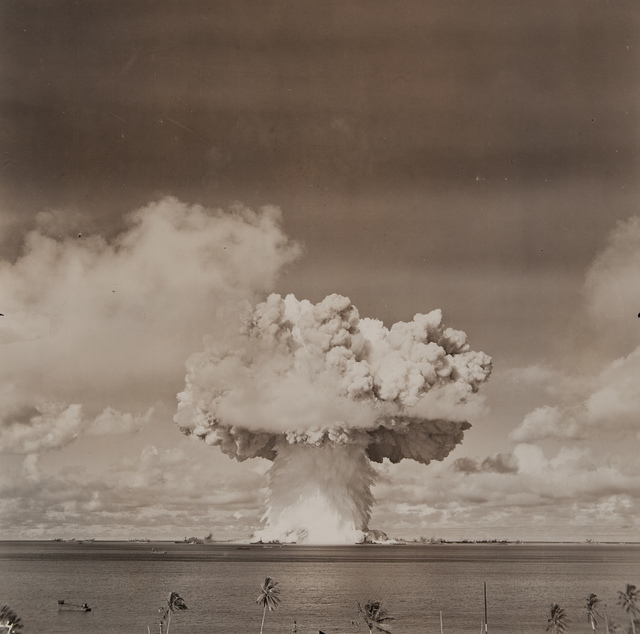 Atomic bomb blast at Bikini Island