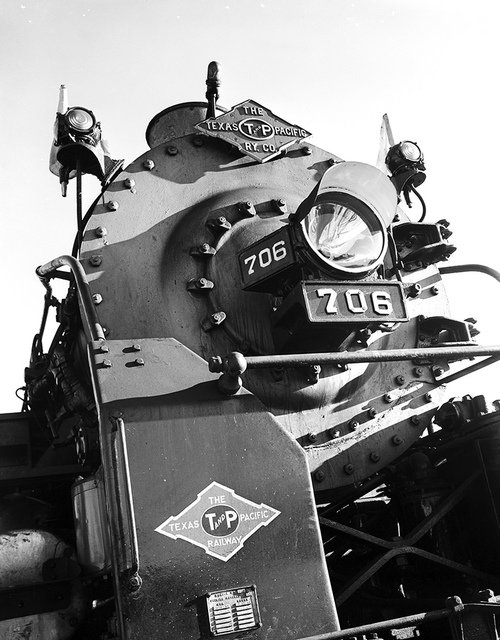 [Front of Locomotive 706, Texas & Pacific Railway Company]